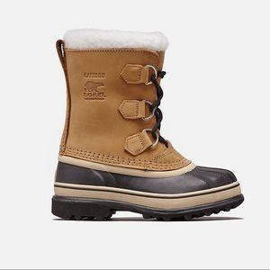 Sorel Youth Caribou Boot Tan Size 5